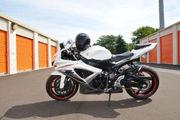 White 2009 Suzuki GSX-R 750 !!!!!!!!!!!!!!!