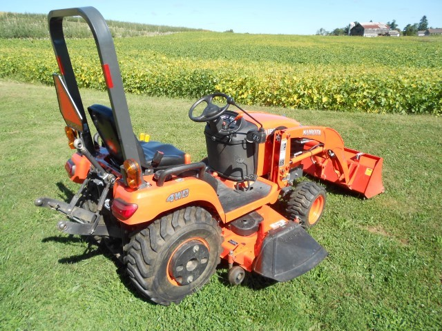 Kubota Belly Mower Decks : Kubota bx w loader and belly mower
