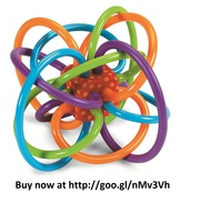 teething toy Manhattan Toy Winkel Rattle and Sensory Teether Activity